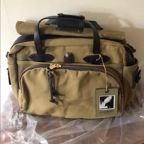 97b0365e781e FILSON Rugged Twill Padded Computer Bag NWT